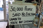 August 2016, traders in the Brixton Arches protest against their eviction by Lambeth Labour Council.