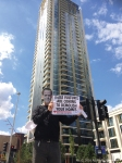 July 2016, Fight for Aylesbury, Architects for Social Housing and Class War protest at social cleansing of the Elephant and Castle by Southwark Labour Council.