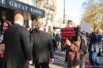 April 2016, the Radical Housing Network protest at Property Developers Awards, Grosvenor Hotel, Park Lane.