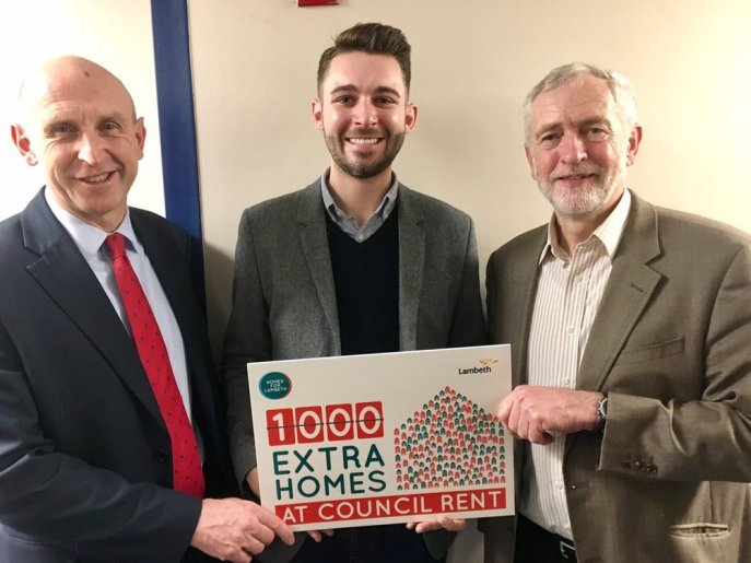 John Healey, Matthew Bennet and Jeremy Corbyn, Lambeth Labour Manifesto 2018