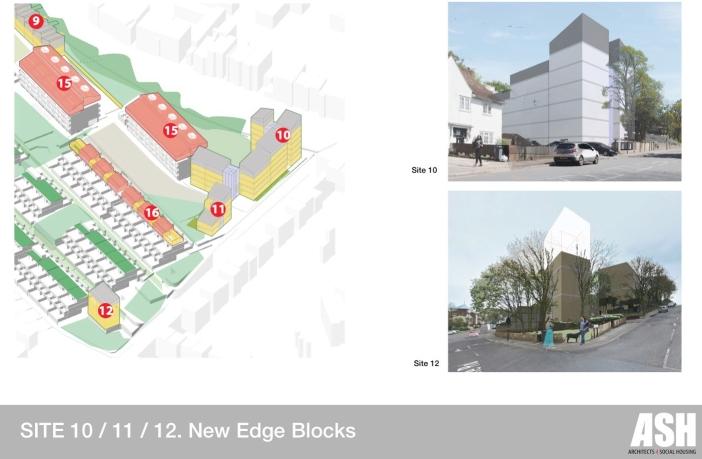 Sites 10/11/12. New Edge Blocks