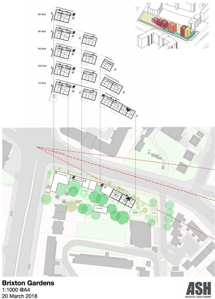 ASH, Brixton Gardens: Proposed Plan
